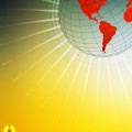 globe background yellow