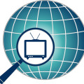 globe tv blue magnify
