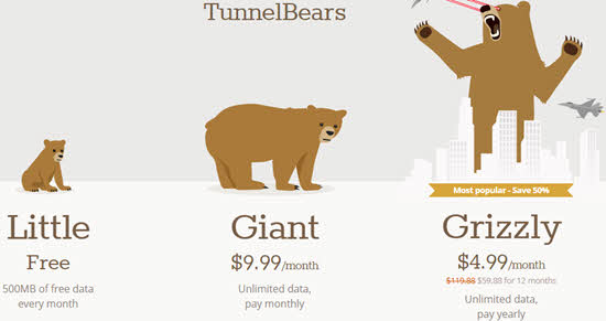 TunnelBear VPN Review Price