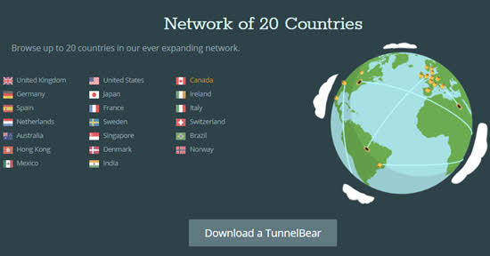 TunnelBear VPN Review Servers